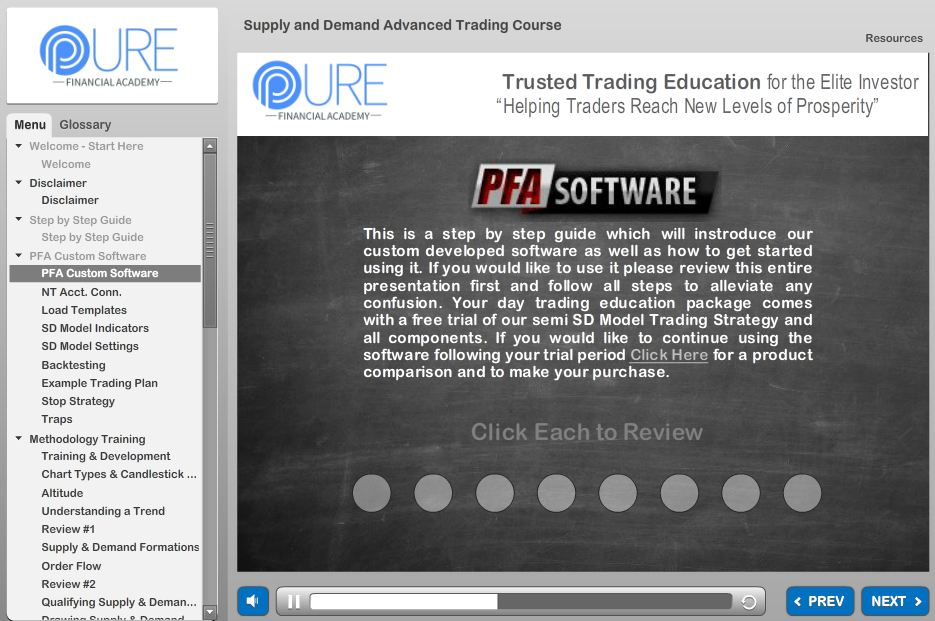 pfa course software guide